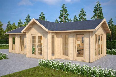 large log cabin large garden log cabin the hansa office 40m2 70mm 4 x