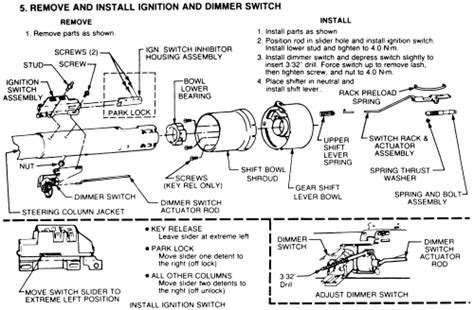 how to remove ignition actuator 1992 toyota paseo repair guides steering ignition switch autozone com