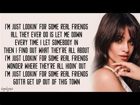 camila cabello real friends lyrics real friends camila cabello lyrics ruclip