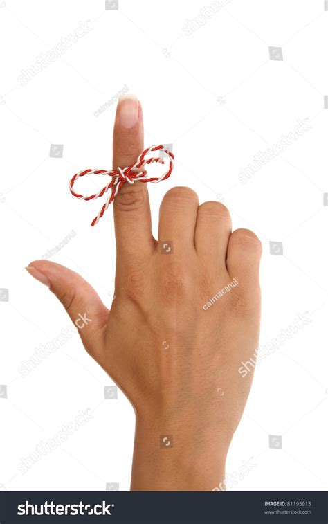 What Will Show Up On A Fingerprint Background Check String On Finger Remember Something Stock Photo