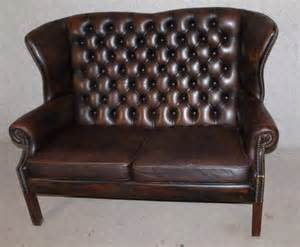 queen anne 2 seater sofa antiques atlas queen anne style 2 seater leather wing