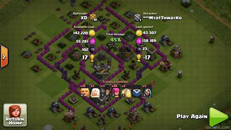 coc layout th7 anti giant th7 farming base knoxx anti giant clash of clans land