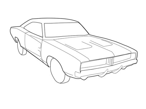 1969 Dodge Charger Coloriage Coloring Home Dodge Charger Coloring Pages