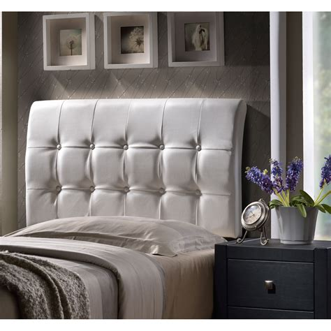 White Leather Headboard by Outdoor