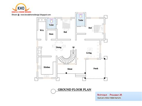 Floor Plan And Elevation Drawings by Plan Elevation Kerala Home Design Floor Plans Home Plans
