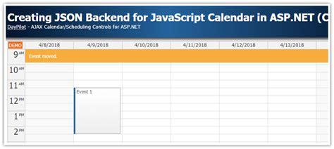tutorial asp net javascript daypilot code scheduling tutorials and source code