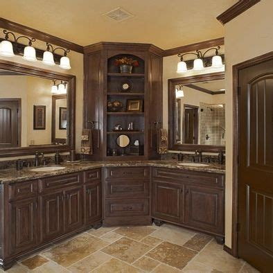 Another great corner vanity but without the obnoxious overly heavy woodwork cool bathrooms
