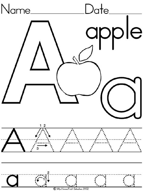 printable alphabet apples alphabet letter a apple standard block manuscript