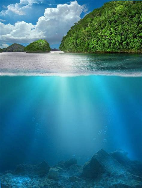underwater photoshop premade backgrounds psddude