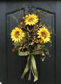 Front Door Decorations For Summer Sunflower Bouquet Front Door Decor Summer Wreath Sunflowers