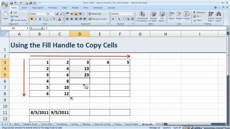 excel 2007 black and white pattern fills how to copy cells using the fill handle in excel 2007