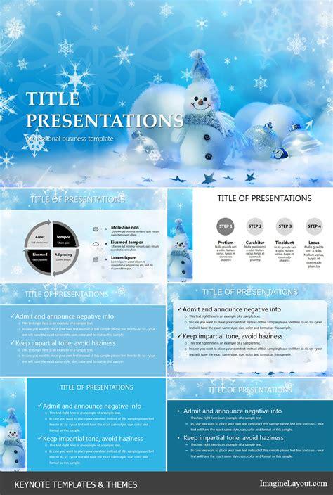 keynote themes christmas christmas and snowman keynote templates imaginelayout com