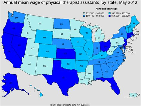 physical therapy assistant salary healthcare salary world