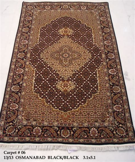 how big is 3x5 rug black 3x5 woven by osmanabad wool silk tabriz glamorous area rug ebay