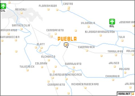 puebla mexico map pueblo mexico map mexico map