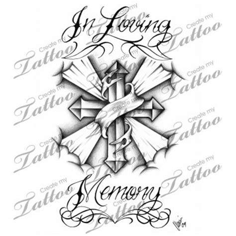 memory cross template marketplace in loving memory cross 3350