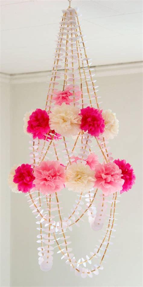 Diy Paper Chandelier Floral Chandelier