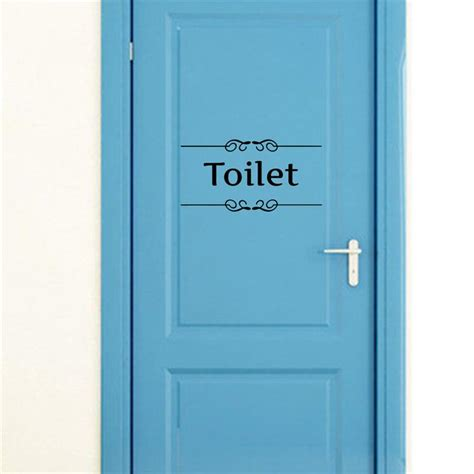 toilet bathroom signs for home aliexpress com buy toilet door entrance sign stickers
