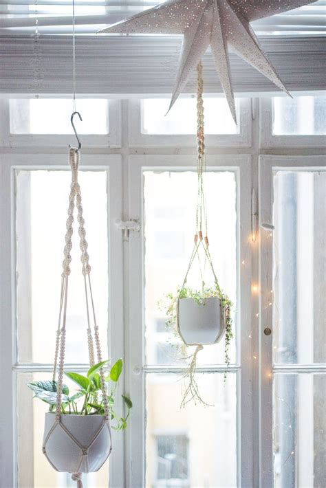 Step By Step Macrame Plant Hanger - easy home diy macrame plant hanger tutorial macrame