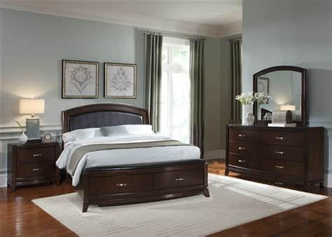 Avalon Bedroom Set by Avalon Upholstered Storage Bed 6 Bedroom Set In