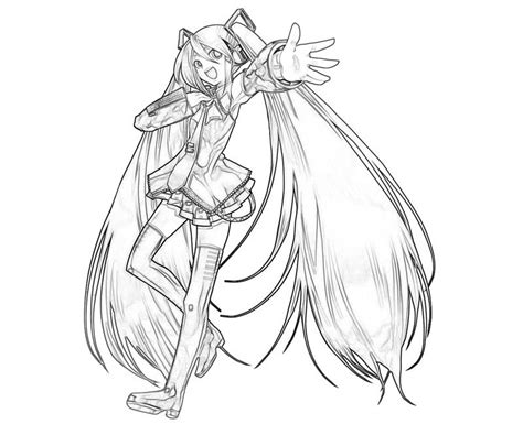 free coloring pages of coloriage de miku