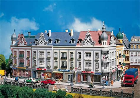 Faller Countrysite Decor Acceessories Miniature Building Ho Scale faller 130925 schillerstrasse row of downtown structures
