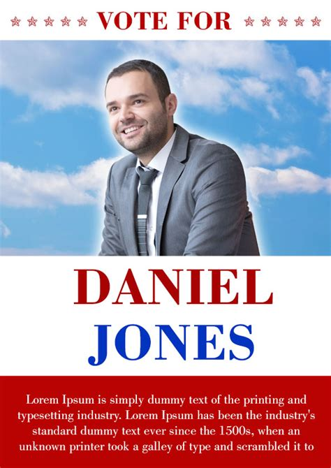 Caign With These Elegant Free Political Caign Flyer Templates Demplates Election Poster Template