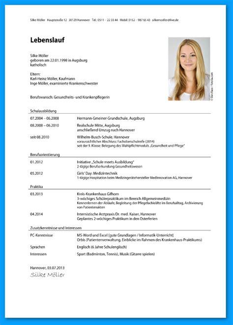 Lebenslauf Muster Für Ausbildung 9 bewerbung muster anschreiben ausbildung