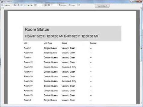 housekeeping room status housekeeping room status report