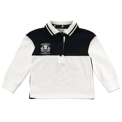 cesare paciotti 4us navy blue and white polo shirt
