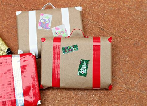 how to wrap gifts how to make suitcase gift wrap with duck morena s