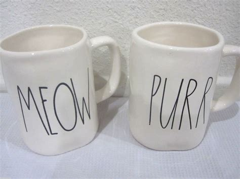 rae dunn mugs magenta inc by rae dunn coffee cup mug cat purr or meow