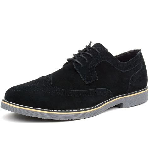 dress sneakers mens alpine swiss beau mens dress shoes genuine suede wing tip