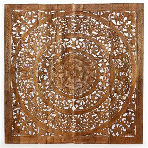 48 quot x 48 quot 3d lotus flower wood wall panel wood decor