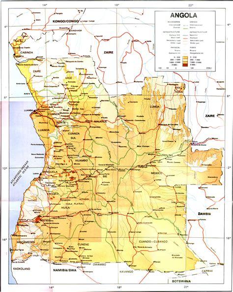 angola map map of angola republic of angola maps mapsof net