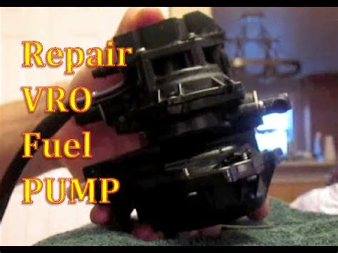 how to repair fuel pump vro johnson evinrude outboard