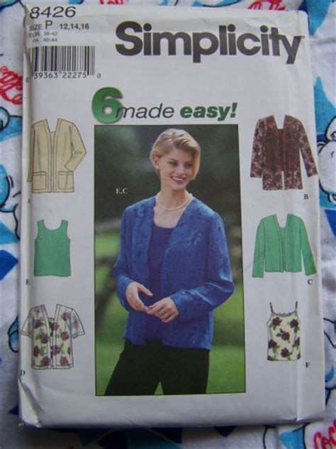 Set Open Front Cardigan Camisole misses 6 easy sewing patterns open front cardigan jacket