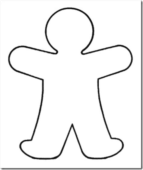 Blank Person Clipart Person Template For Kindergarten