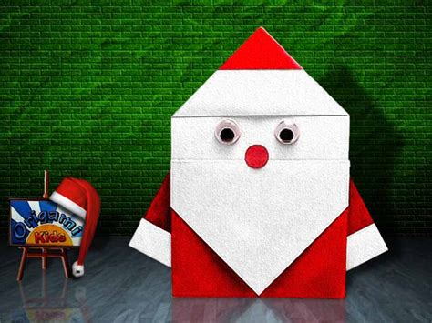 Simple Origami Santa Claus - simple origami santa by fumiaki shingu