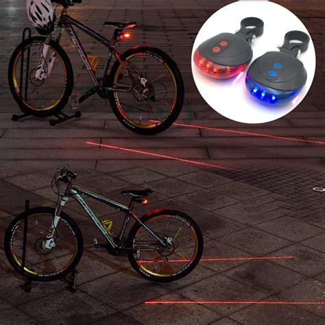 light 2 bike zk50 bike light 5led 2laser waterproof led bicycle rear