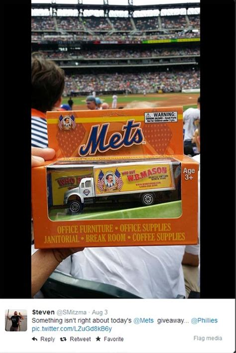 Mets Promotions And Giveaways - mets give away a phillies toy truck 6abc com