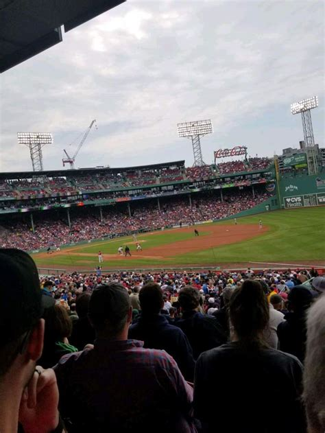 fenway park section grandstand  home  boston red sox