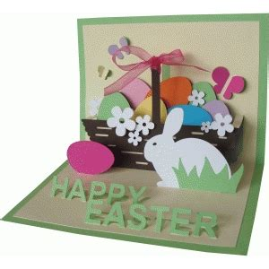 pop up easter card templates silhouette design store view design 57277 happy easter