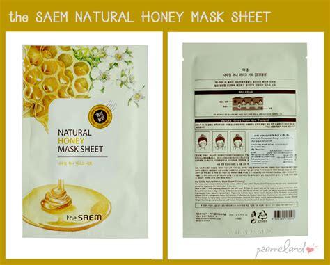 Promo The Saem Honey Mask Sheet Glowing bloggang pearreland มหากาพย ร ว ว มาส กหน า 70 ช น ท เราชอบใช มาตลอดท งป part 2