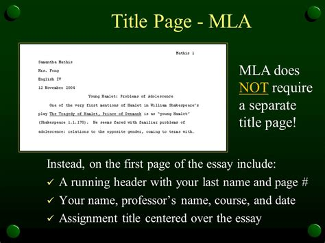 resume mla format essay title page