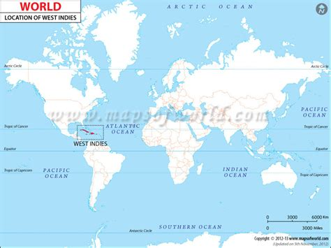 world map with country name west indies where is west indies location of west indies