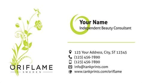 desain kartu nama herbalife oriflame business card design 4