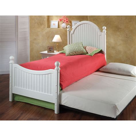 girls trundle beds westfield wood trundle bed in off white by hillsdale