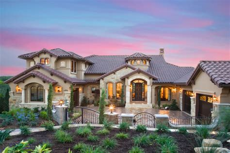 Mediterranean Custom Homes | custom parade home in austin texas mediterranean