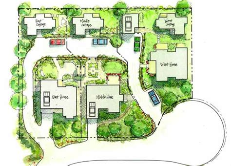 site plans for houses the cottage company backyard neighborhood site plan homestead lay of the land